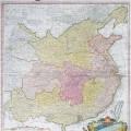 1735年绘制的中国地图