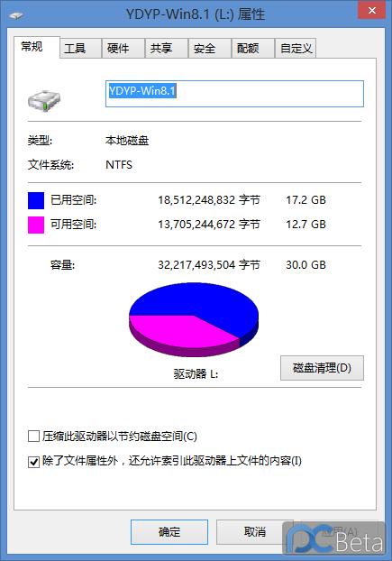 原移动硬盘里win8.1update1所占用空间.PNG
