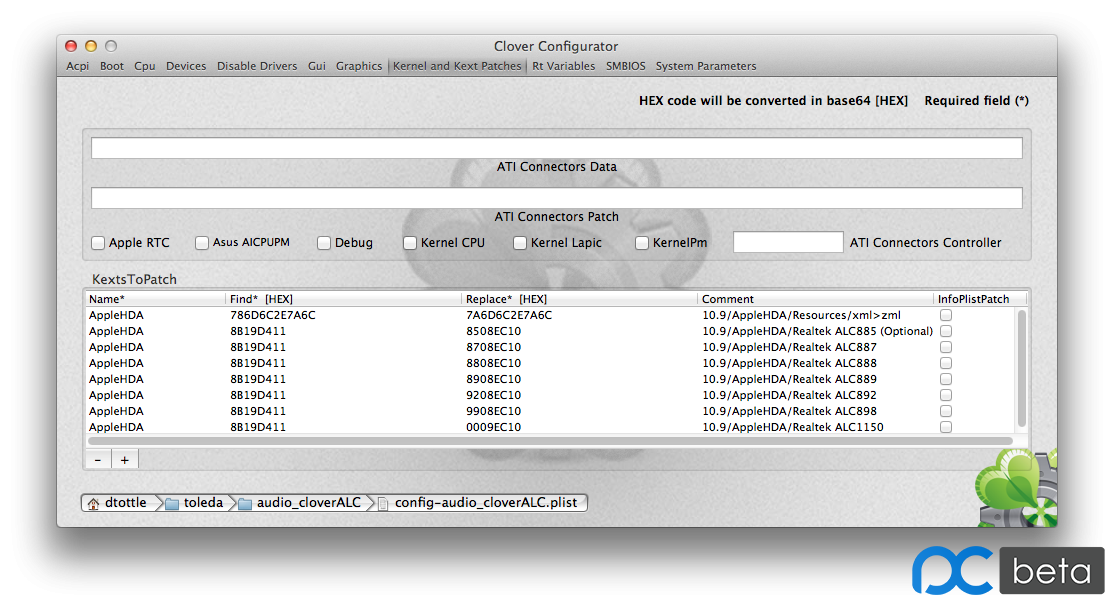 Clover Configurator-Kernel and Kext Patches-cloverALC.png