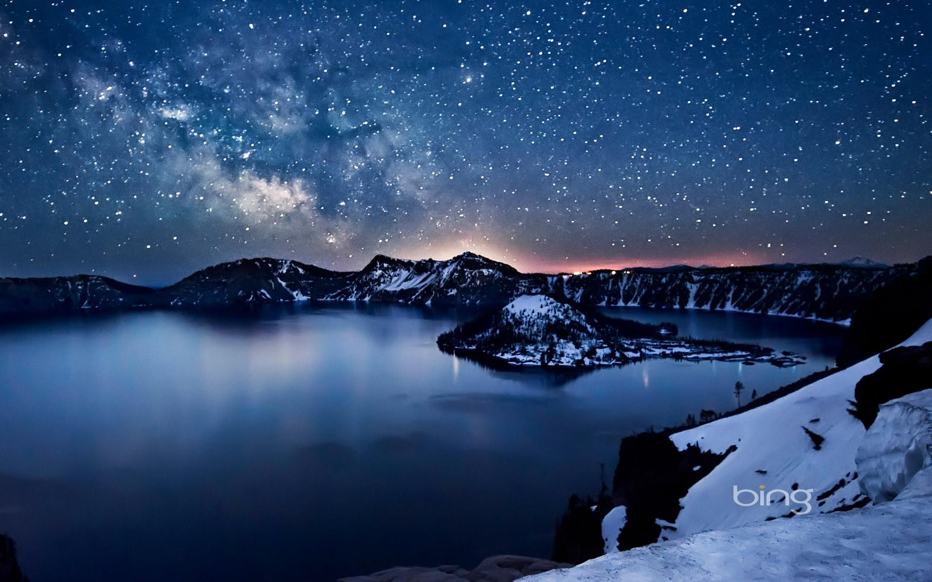 俄勒冈州  火山口湖与银河.jpg