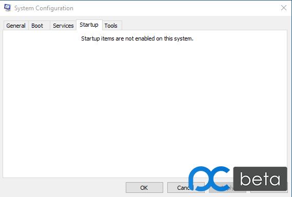 startup选项卡下面是空的,但实际上开机几个软件都有加载。