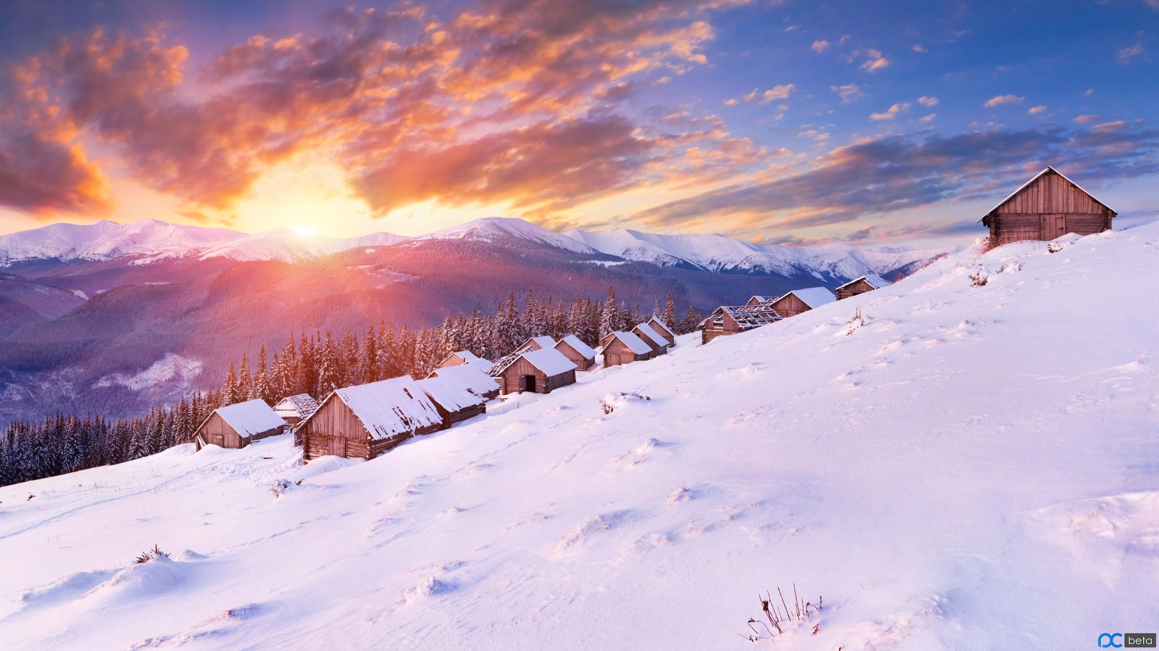 mountains-3840x2160-5k-4k-wallpaper-hills-sunset-snow-winter-house-5699.jpg