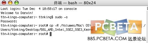 终端运行:sudo -s; 然后输入你的Tiger密码。然后回车吧。密码不会显示。