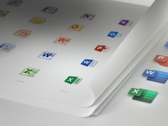 微软 Office 系列应用将重新设计图标:更现代,更 Fluent Design