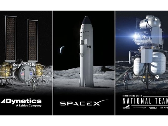 NASA选定三家公司参与登月计划